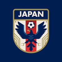Japan World Cup Soccer Badges vector