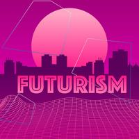 Futurismus Stadt Vektor