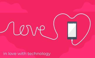 Förälskad i teknikillustration