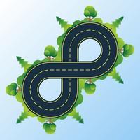 Infinity Road vector