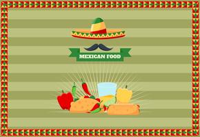 Mexican Food Menu Vectors
