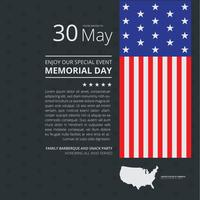Memorial Day Decoratie Illustratie Handout