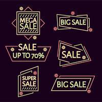 Neon Verkauf Vektor