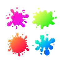 Colorful Inkblot Cartoon