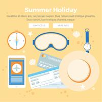 Vector Summer Vacation Design Elements