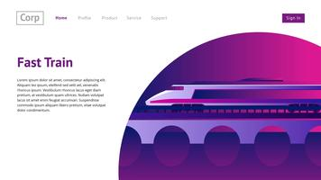 Website Header Train Vector