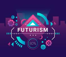 Futurismo sfondo vettoriale