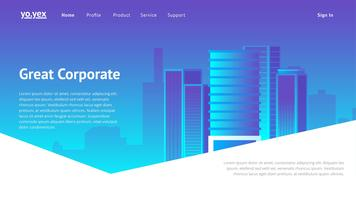 Corporate Website Header Vector