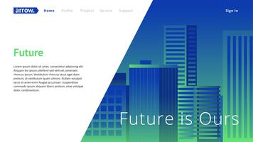Corporate Web Header Template vecteur