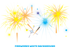 fireworks white background Illustration