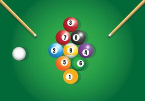 9 Ball Billard Vecteur