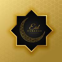 hermoso eid islámico saludo del festival