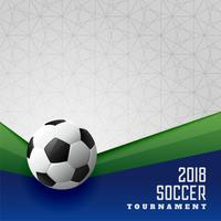 Conception d'affiche de sport de tournoi de football 2018
