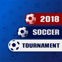Fond élégant de tournoi de football 2018
