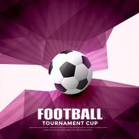 Fondo abstracto de fútbol con formas geométricas
