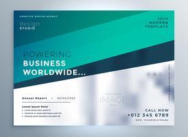 professionele blauwe bedrijfsbrochure-flyerpresentatie