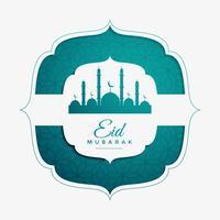 Islamitisch festivalontwerp voor eid Mubarak-viering