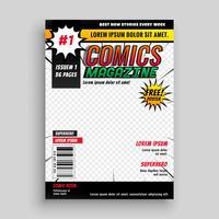comic magazine book cover template design