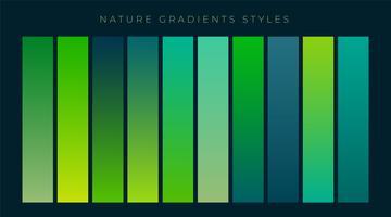 set of fresh green gradients background