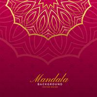 luxe achtergrond met mandala-kunst