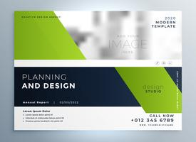 creative green business flyer professional presentation