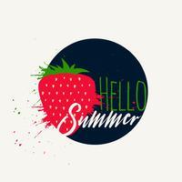 strawberry splash hello summer background