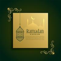 islamisk ramadan kareem hälsning dekoration