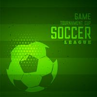 Fußballspielturnier trägt grünen Hintergrund zur Schau