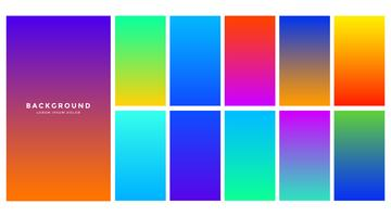 fundo gradiente colorido abstrato vibrante