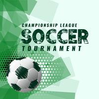Fondo de torneo de fútbol abstracto en estilo grunge