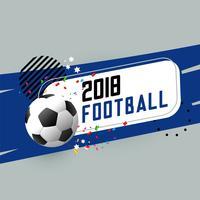 Banner abstracto de fútbol con elementos de diseño