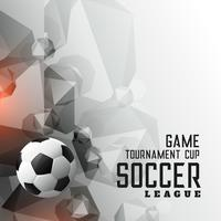 abstract soccer tournament league sports background