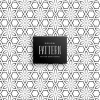 línea abstracta fondo de patrón de flores