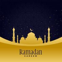 vacker gyllene moské med stjärn bakgrund