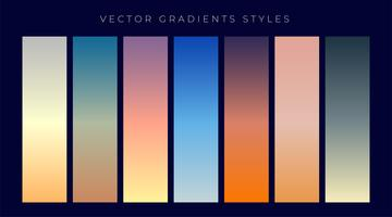 set of sky dusk and dawn gradient background