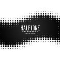 black halftone dots pattern background