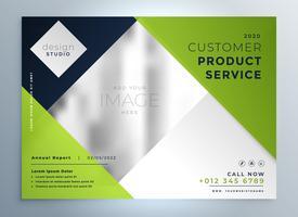 Plantilla de presentación de diseño de folleto de negocio verde