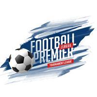 Banner de fútbol abstracto con fondo de trazo de pintura