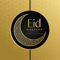 creativo eid moon design decorativo dorato