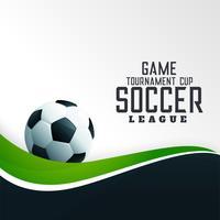 Fondo de fútbol con ola verde