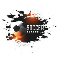 abstract grunge soccer league tournament background
