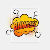 komische tekstballon met expressie tekstbank