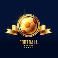 símbolo de la insignia del emblema de fútbol dorado