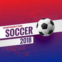 Fondo de campeonato de torneo de fútbol 2018