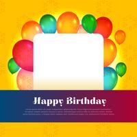 design de cartão de feliz aniversário com espaço de texto