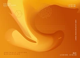 Fondo fluido abstracto dorado hermoso