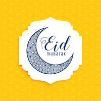cresent dekorativa eid mubarak måne design