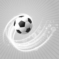 Fondo de fútbol con sendero de luz blanca y destellos.
