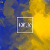 blauwe en gele abstracte waterverfachtergrond