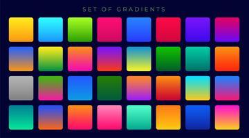 gradientes coloridos brilhantes fundo enorme conjunto